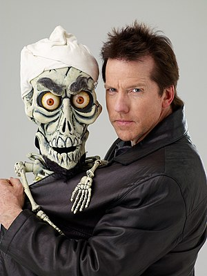 Jeff Dunham, American comedian, with his puppe...