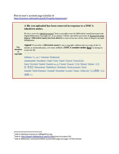 FileMemo - WMF DMCA takedown and counterclaim notificatino template