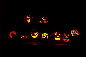 Pumpkins at Halloween