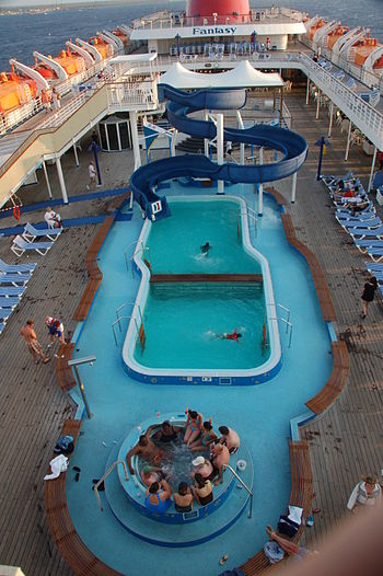 "Swimming pool, ""Carnival Fantasy"" cr..."