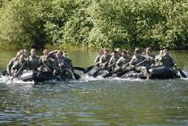 Teams of ROTC cadets compete at the water conf...