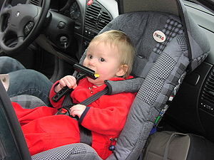 Rear-facing infant car seat