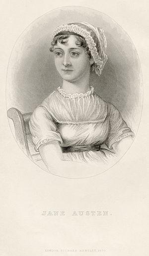 Portrait of Jane Austen, from the memoir by J....