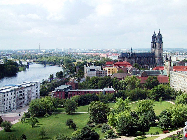 A beautiful view of the city centre of Magdeburg