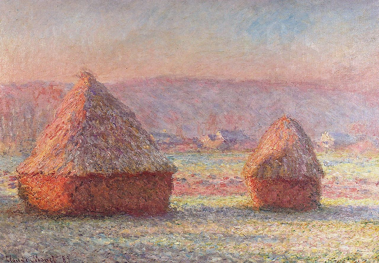 Monet Pintor Cuadros File Claude Monet White Frost Sunrise Jpg Wikimedia