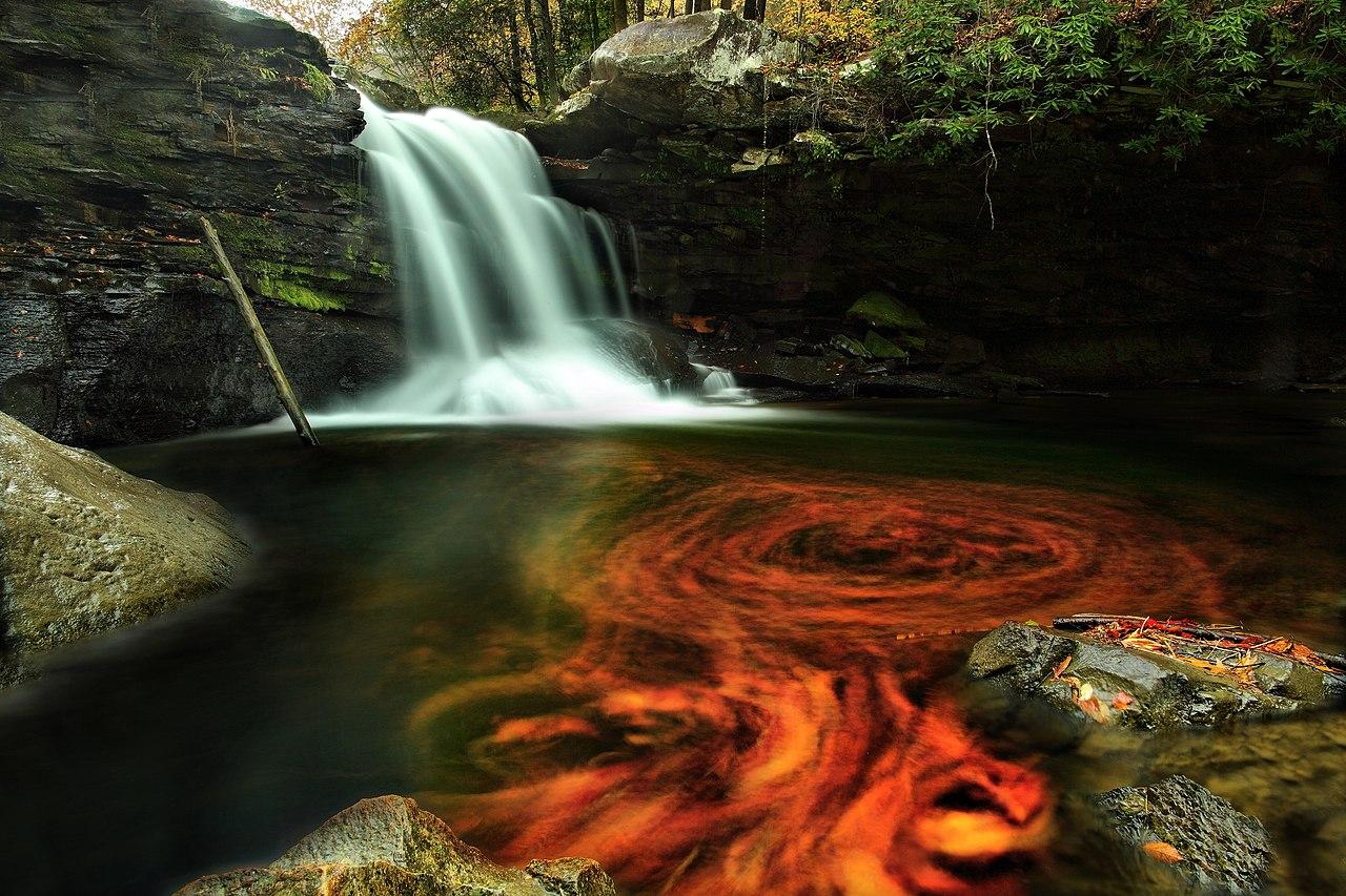 Waterfalls Desktop Wallpaper Forest Falls File Fiery Autumn Waterfall Virginia Forestwander Jpg