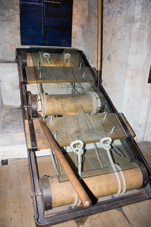 A torture rack, photographed in the Tower of L...