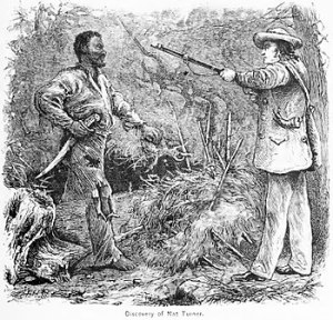 Discovery of Nat Turner: wood engraving illust...