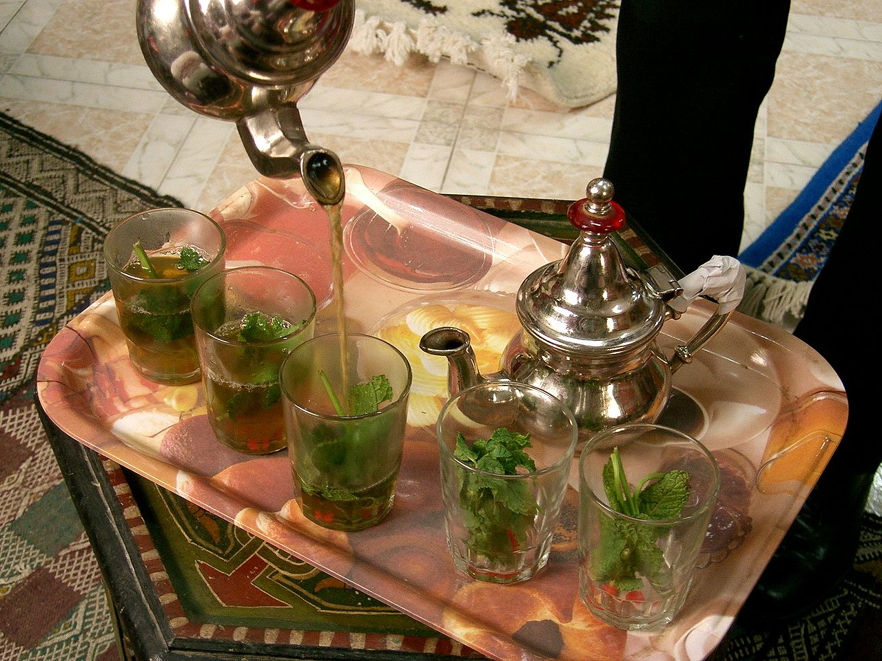 Algerische Küche Wikipedia File Tangier Mint Tea Jpg Wikimedia Commons
