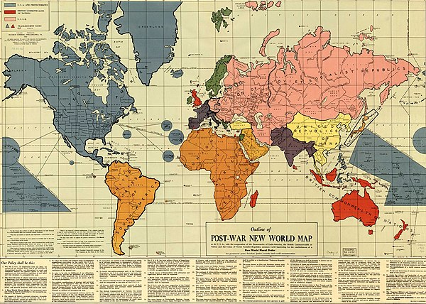 outline map america as a world power