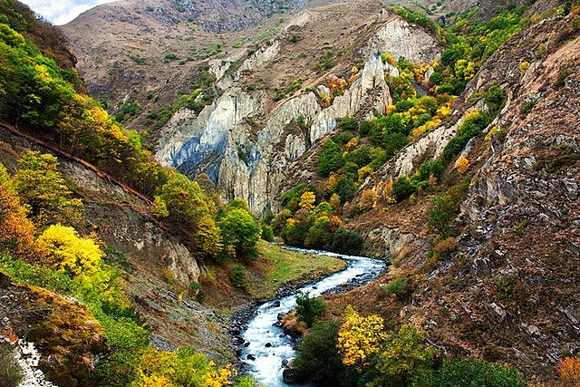 Waterfall Desktop Wallpaper Hd File Khevsureti Georgia Mountain River Jpg Wikimedia