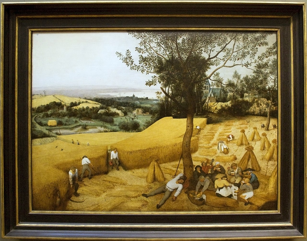 Painting Frames File The Harvesters Painting By Brugel With Frame Jpg