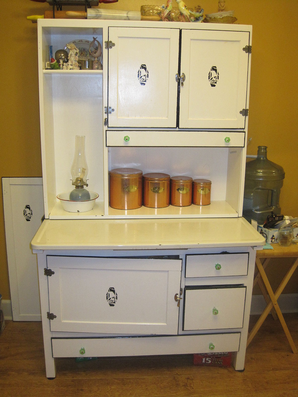 Kitchen Cabinets Metal Old Hoosier Cabinet - Wikipedia