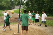 A game of tetherball