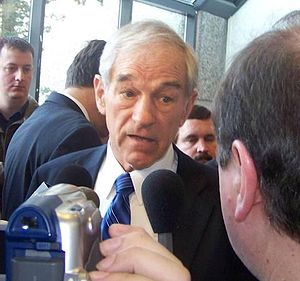 Ron Paul being told Cory is in his house.