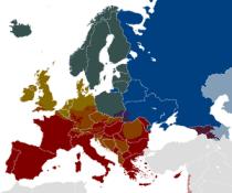 The European Alcohol belts.