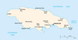 A map of Jamaica