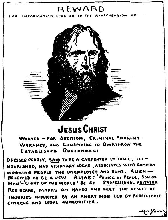 FileJesus wanted posterjpg - Wikimedia Commons - criminal wanted poster