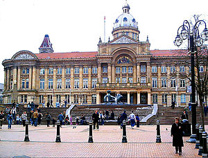 Victoria Square, in central Birmingham