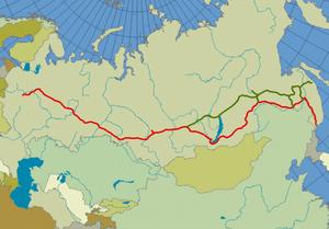 Trans siberian railroad large