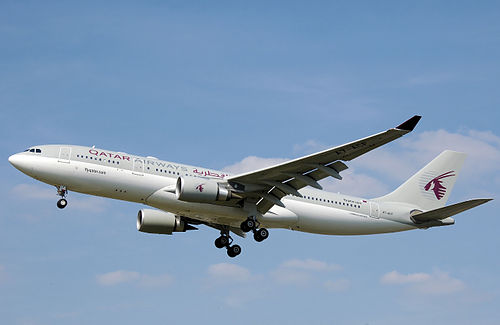 Qatar Airways Airbus A330-200 (Adrian Pingstone, via Wikimedia Commons)