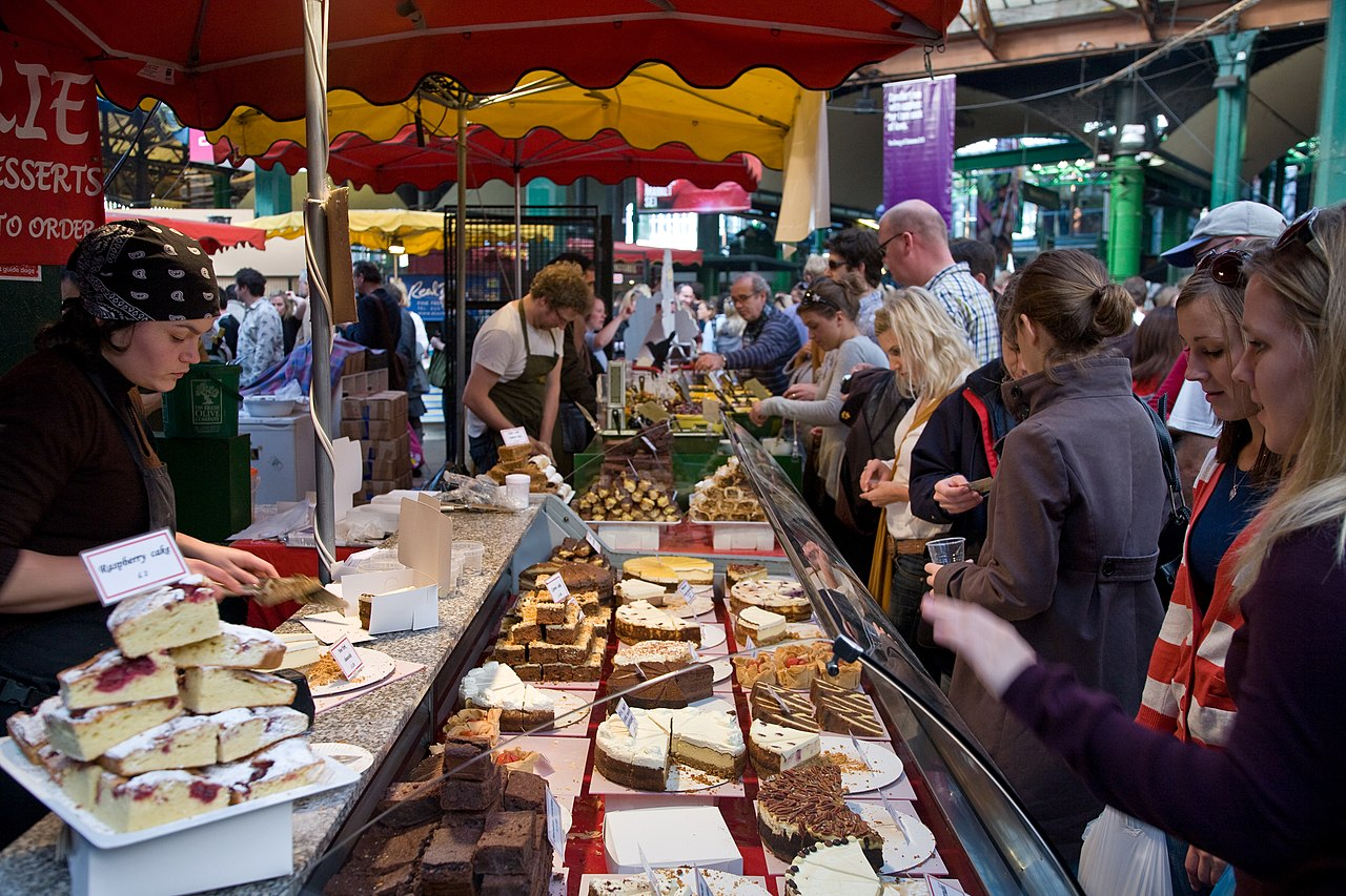 Breakfast Budget Hotel File:borough Market Cake Stall, London, England - Oct 2008