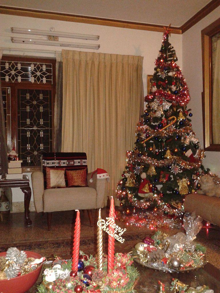 Wallpaper Natal Hd File Christmas Tree In A Home Kerala India Jpg