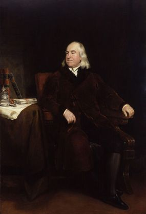 Jeremy Benthams NPG portrait