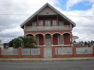 Português: Casa antiga em Mafra (Santa Catarina)