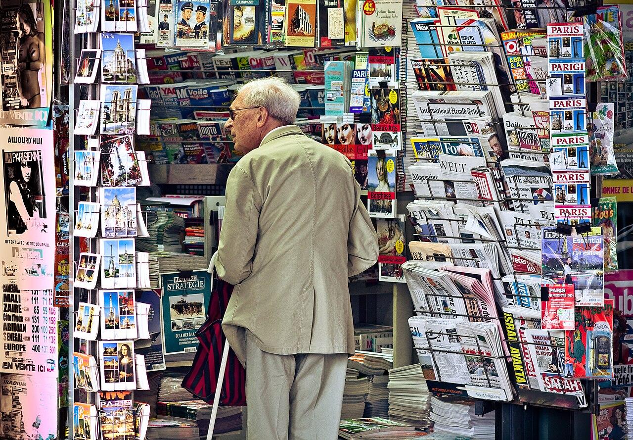 Filean Old Man In Newsagent39s Shop Paris September 2011