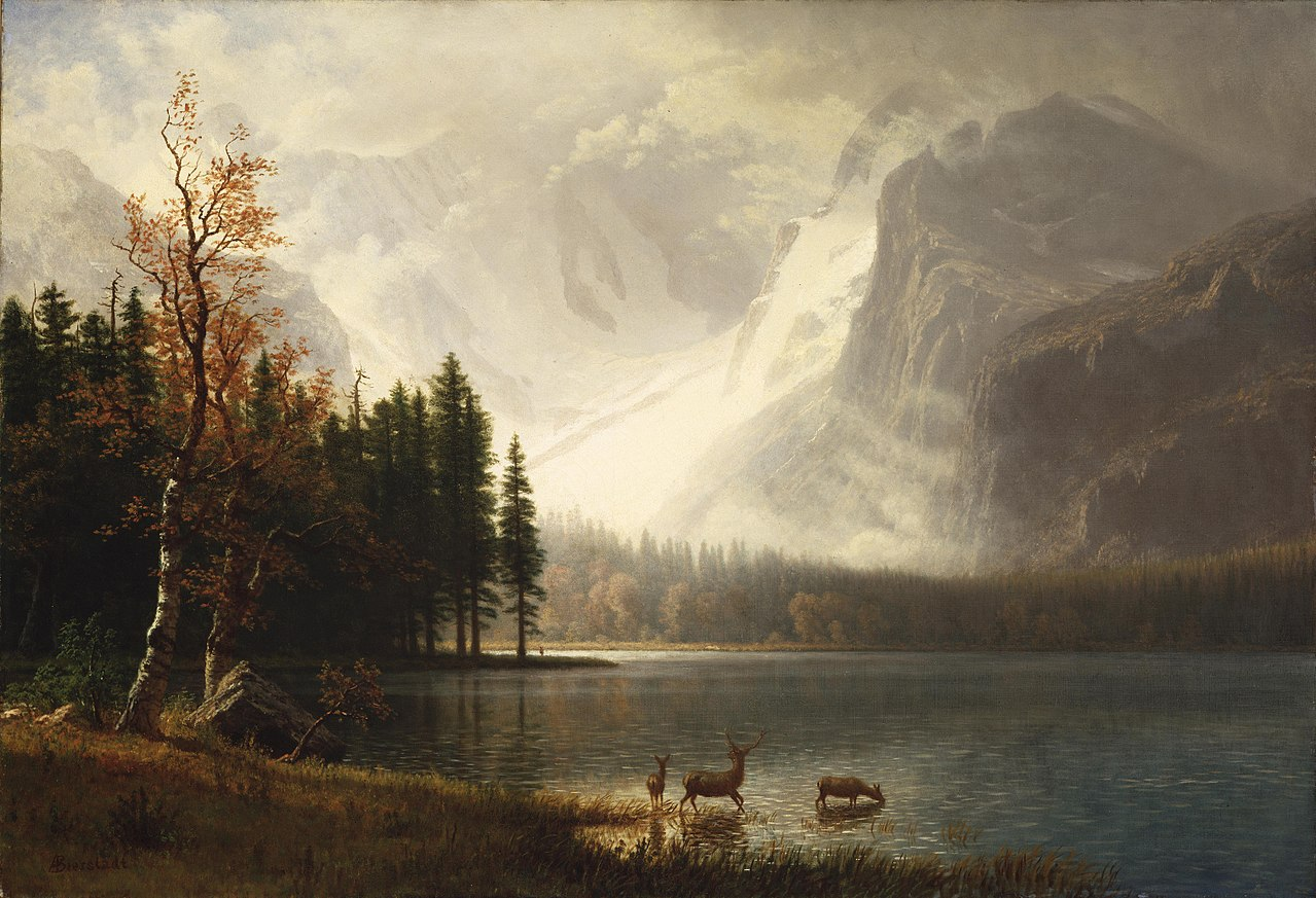 American Paint And Wallpaper Fall River File Albert Bierstadt Estes Park Colorado Whyte S Lake