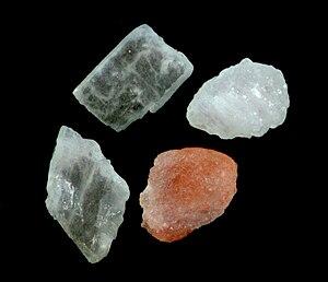 Himalayan rock salt crystals.
