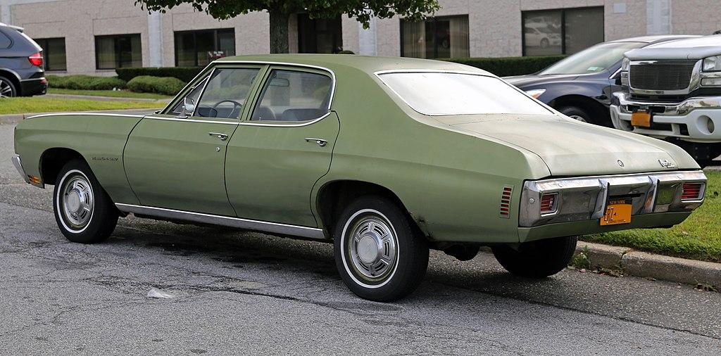 File1970 Chevrolet Chevelle Malibu 4 Dr Rear Leftjpg