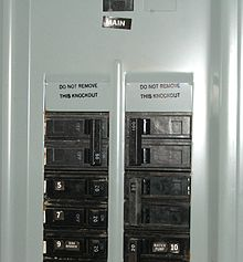 100 Amp Garage Service Wiring Diagram Distribution Board Wikipedia