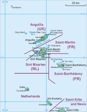 Map of middle part of Leeward Islands (Anguill...