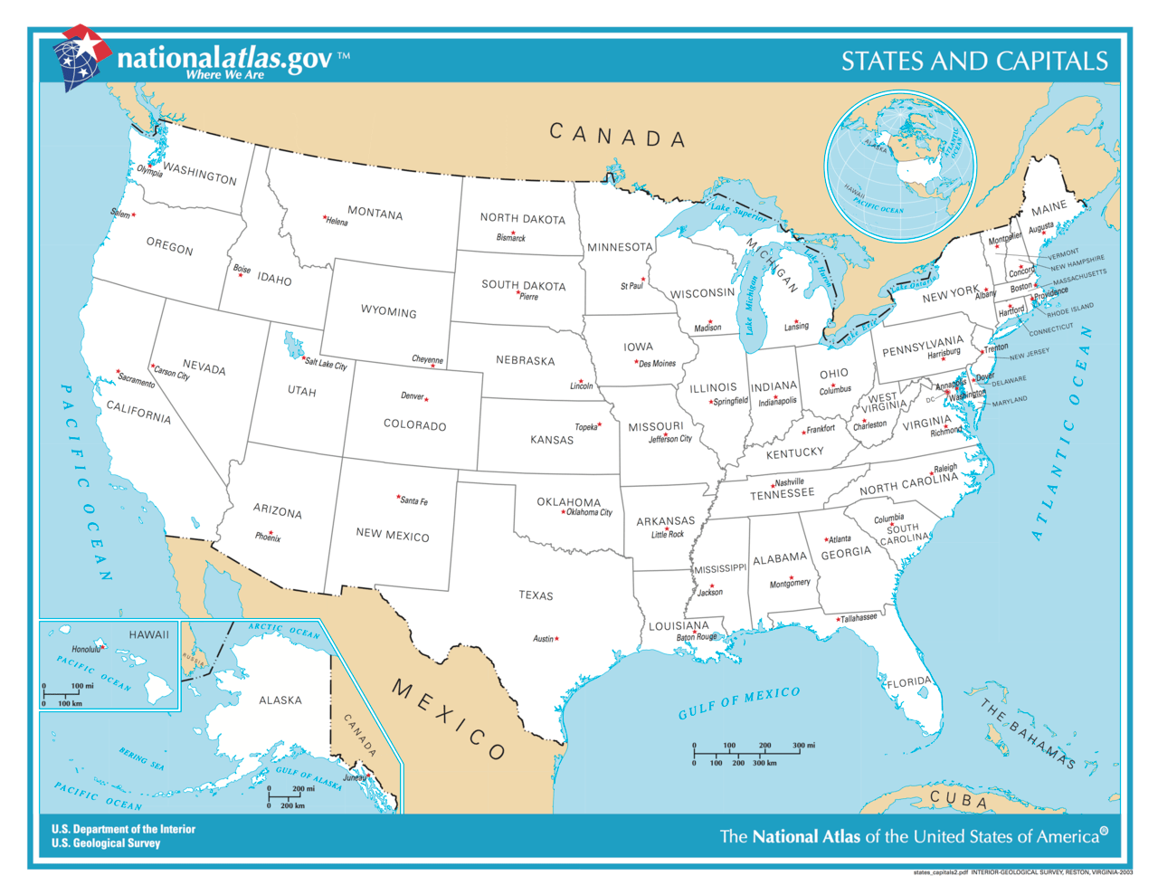 Us Map Of States And Cities - Usa maps with states