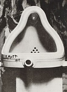 Image of Marcel Duchamp's 1917 Fountain (Toilet bowl) Modern Consumerism