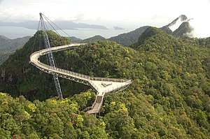 The Langkawi Sky Brigde or cable car Malaysia