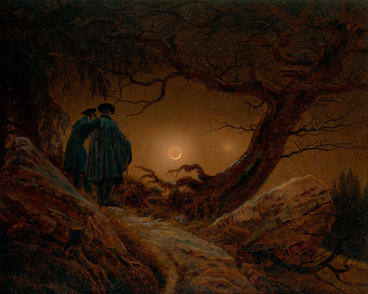 Romantiek Literatuur Two Men Contemplating The Moon Wikipedia