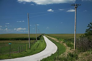 Farm road in Champaign County, Illinois