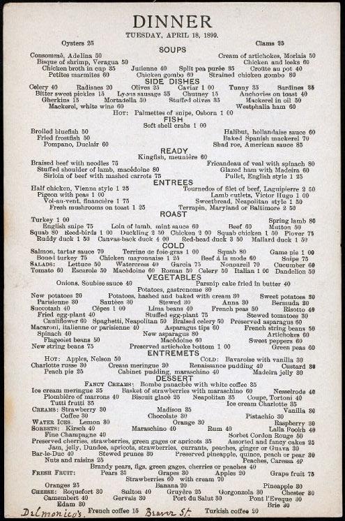 FileDelmonico menu April 1899jpg - Wikipedia