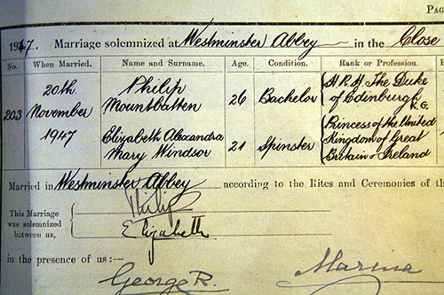FileMarriage certificate of Philip Mountbatten and Elizabeth