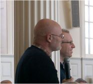 Brian McLaren (foreground) and Tony Jones, Yal...