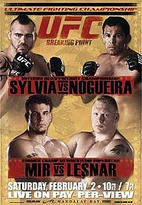 A poster or logo for UFC 81: Breaking Point.