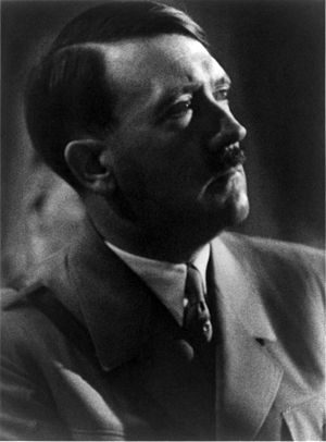 Adolf Hitler portrait, bust, 3/4 facing right.