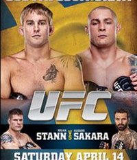 A poster or logo for UFC on Fuel TV: Gustafsson vs. Silva.