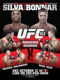 A poster or logo for UFC 153: Silva vs. Bonnar.