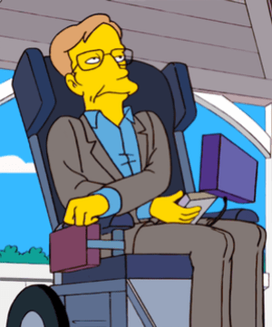 Hawking as seen as a cartoon character on The ...