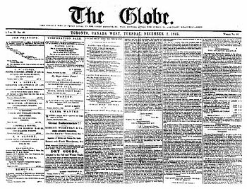 The Globe (Toronto newspaper) - Wikipedia