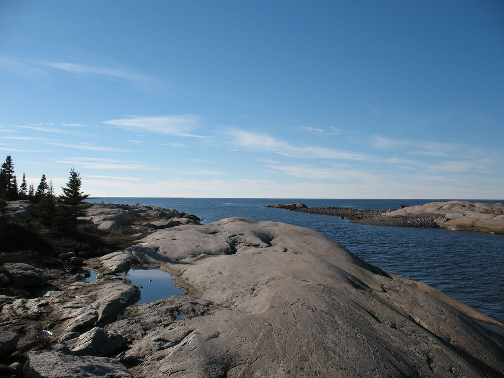 Creative Fall Wallpaper File Longue Pointe At James Bay With Hudson Bay In
